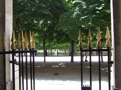 Vue sur les jardins du Palais Royal