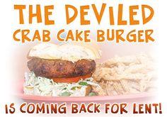 For Lent we have the Deviled Crab Cake Burger