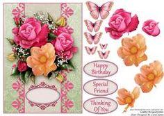 Card Front - Rose Bouquet