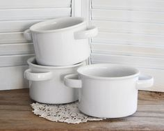 Love these for soup bowls!