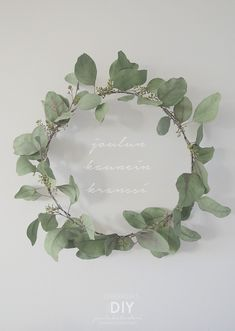 DIY for Christmas - Esmeralda's White Christmas, Christmas Time, Xmas, Diy Flowers, Wedding Flowers, Flower Bouquets, Sweet Home, How To Make Wreaths, Decorating Blogs