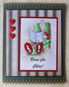 Oscar (Sku#K1239) Golden Oldies from Art Impressions ... Great masculine image, perfect for Father's Day or Birthday. card