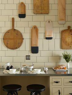 cutting board gallery wall.