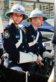 Australian police. Didn't know there were police hats more ridiculous than England's
