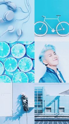 Rap Monster BTS blue asthetic