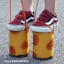 coffee can giraffe legs step 4 - Always wanted to do this for my older kids