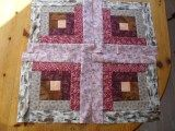 diamond log cabin quilt pattern