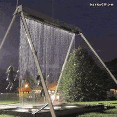 Waterfall swings...