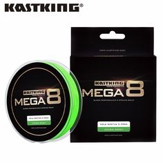 KastKing Mega8 New Braid Line 300Yds/274M 0.14-0.50mm 10-80LB 8 Strands Super Strong Green Braided Fishing Line for Sea Fishing //Price: $23.46 & FREE Shipping //   #hashtag5    #athleticsdepot