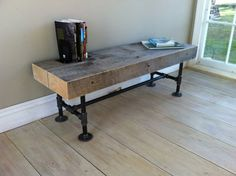 Weathered barnwood coffee table