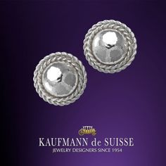 White Gold Earrings from the Flowing Lines Collection at Kaufmann de Suisse in Palm Beach. Palm Beach Florida, Diamond Rings, Diamond Jewelry, Gemstone Rings, Jewelry Showcases, Custom Jewelry Design, Gold Earrings, Jewelery, Fine Jewelry