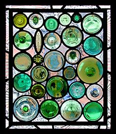 Oh My!  This is an awesome way to reuse the bottoms of wine bottles, stemware, jars, etc!  So pretty!