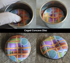 Caged convcave disk by Page's Creations, via Flickr