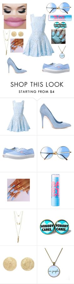 """Which side would you use? Comment"" by queencori ❤ liked on Polyvore featuring Alex Perry, Alexander McQueen, Vans, Maybelline, Hard Candy, Charlotte Russe, Carolina Bucci, cutekawaii, women's clothing and women"