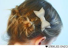 hippe strikken in je haar van imitatieleer! kies uit diverse kleuren
