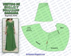 36 New Ideas For Dress Diy Pattern Charts African Dress Patterns, Dress Sewing Patterns, Sewing Tutorials, Sewing Projects, Lace Dress Pattern, Hippie Accessories, Pattern Drafting, Fashion Sewing, Diy Dress