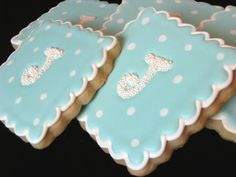 Cookie idea for baby shower.  Adore. Thank you @Cassie Reid