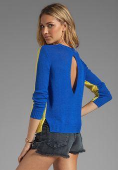 FUNKTIONAL 2-Tone Sweater in Yuzu/Blue