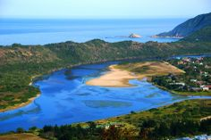 A view from the top of the mountain at Sedgefield, South Africa.