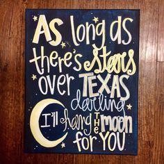 Stars over Texas by KuskisCalligraphy on Etsy