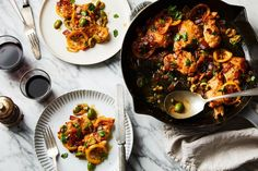 Skillet Chicken with Pancetta, Torn Olives & Caramelized Lemons recipe on Food52