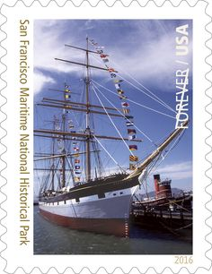 San Francisco Maritime National Historical Park, featured as part of the National Parks Forever Stamp series