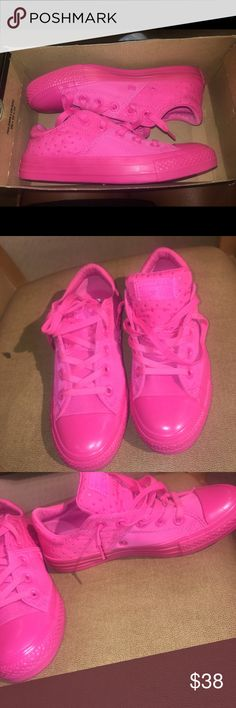 Brand new fabulous pink converse!!! Size 6! Brand new never worn, very pretty hot pink converse Converse Shoes Sneakers