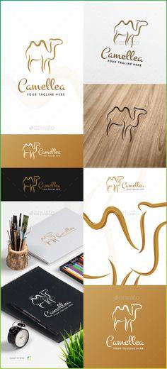 Camellea Logo Template — Vector EPS #sand #creative • Available here → https://graphicriver.net/item/camellea-logo-template/14666496?ref=pxcr