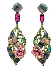 Opal Orchid Earrings by Wendy Yue save by Antonella B. Rossi