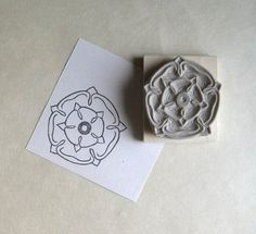 14.00 Handmade Stamps, Handmade Gifts, Stamp Carving, Grey Roses, English Roses, Hand Carved, Stencils, Unique Jewelry, Consumerism