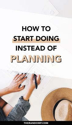 How to reach your goals? How to be more productive and effective? Start doing instead of planning! Being stuck in a never-ending planning phase is a popular way to procrastinate. It's time to start doing and get things done! #beingproductive #productivity #getthingsdone #goals #productivitytips