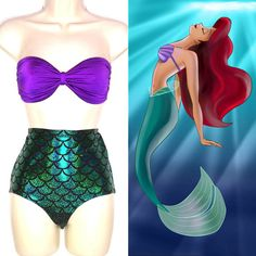 Mermaid Bathing Suit // Mermaid Ariel by TheGoodWitchClothing