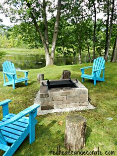 Easy DIY Fire Pit Kit with Grill - Redhead Can DecorateRedhead Can Decorate