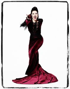 """Evil Queen"": Limited Edition 11x14 Print.  Exclusive vintage print from ABC's hit series ""Once Upon A Time"".  This collector image will be custom printed on fine art, museum quality rag photo paper.    Each print is individually hand numbered and comes with a Certificate of Authenticity.  This 11x14 print with a white border is a limited run of only 500 prints."