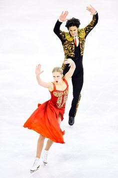 Kaitlyn Weaver and Andrew Poje of Canada compete in the Ice Dance Short Dance Final during day two of the ISU Grand Prix of Figure Skating Final 2014/2015 at Barcelona International Convention Centre on December 12, 2014 in Barcelona, Spain.