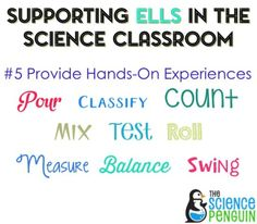 5 things to do when planning a science lesson-- supporting ELLs in the science classroom