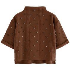 SweatyRocks Women's 3/4 Sleeve Cowl Neck Basic Loose T-shirt Elegant... (56015 PYG) ❤ liked on Polyvore featuring tops, blouses, loose blouse, cowl neck tops, loose fitting tops, 3/4 length sleeve blouse and three quarter sleeve tops