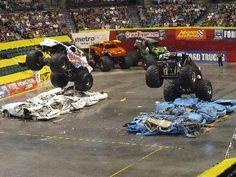 Monster Truck Madness, Monster Truck Show, Monster Trucks, Monster Truck Birthday, Love Monster, Monster Jam, Hot Rod Trucks, Old Trucks, Fire Trucks