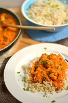 "Vegan Indian ""Butter"" Cauliflower with Coconut Brown Rice"