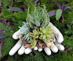 beton giessen - blumenkübel aus betongetränkten tüchern, Garten ideen