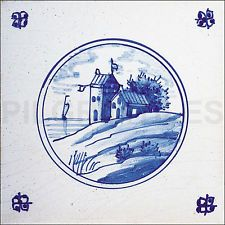Delft Style CeramicTiles / Plaque / Fireplace / Kitchen / Bathroom / Splashback