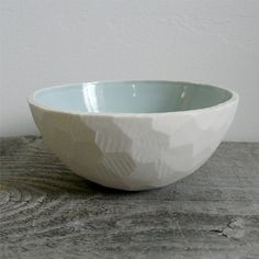 Geometric Porcelain Cereal Bowl by Revisions Design, Marquette, MI