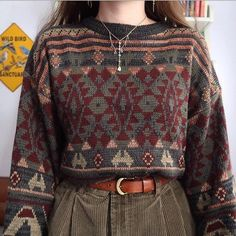 Old Fashion Vintage Knit Sweater – Fashion - Old Fashion Vintage Knit Sweater – Fashion Fashion, Casual street style, Clothes, Fashion pants - Fashion Mode, Aesthetic Fashion, 80s Fashion, Aesthetic Clothes, Look Fashion, Vintage Fashion, Fashion History, Gothic Fashion, Street Fashion
