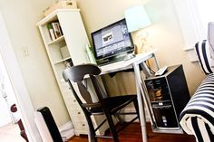 Mini office space in living room