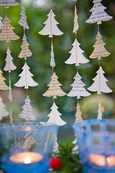 Christmas Garland Christmas decoration rustic by LaMiaCasa on Etsy
