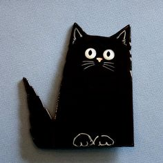 Adorable Fused Glass Cat by Greta Schneider