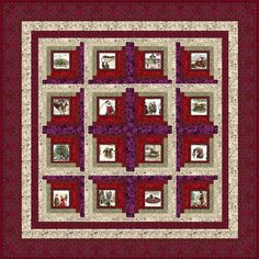 A Log Cabin variation: Polly's Poinsettia Quilt Kit @ JinnyBeyer.com
