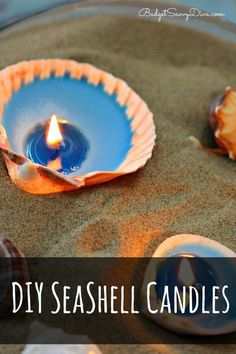 How To Make DIY Seashell Candles. Quick easy craft to use your treasures from your last mermaid adventure.