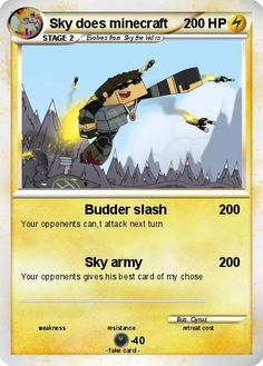 Sky Does Minecraft Name | Pokémon Sky does minecraft 30 30 - Budder slash - My Pokemon Card