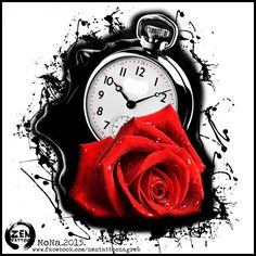 You can't stop the time... rose clock design by MoNa :)